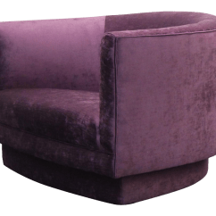 Purple Swivel Chair Massaging Office Large Velvet Mid Century By Milo Baughman For Sale