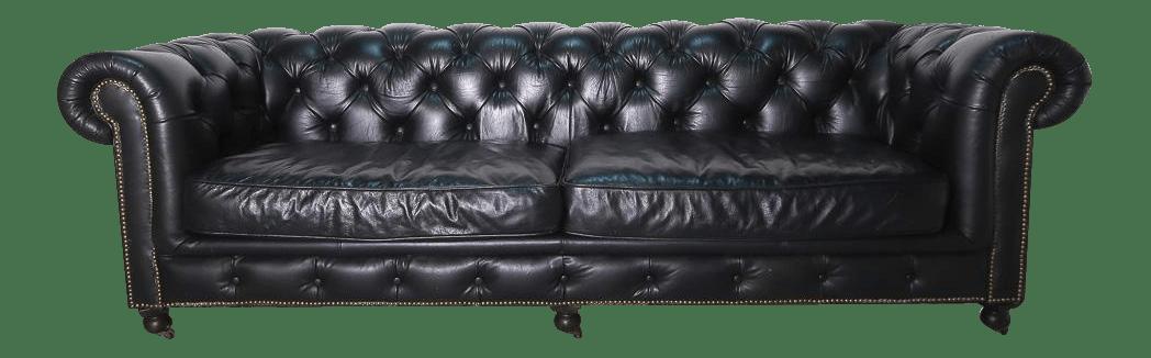 kensington leather sofa restoration hardware stetson dark brown power reclining chairish for sale