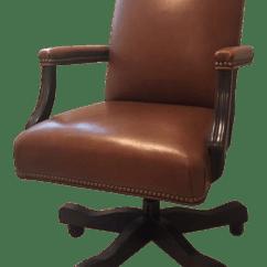 Ethan Allen Leather Chair Indoor Outdoor Chairs Lee Desk Chairish