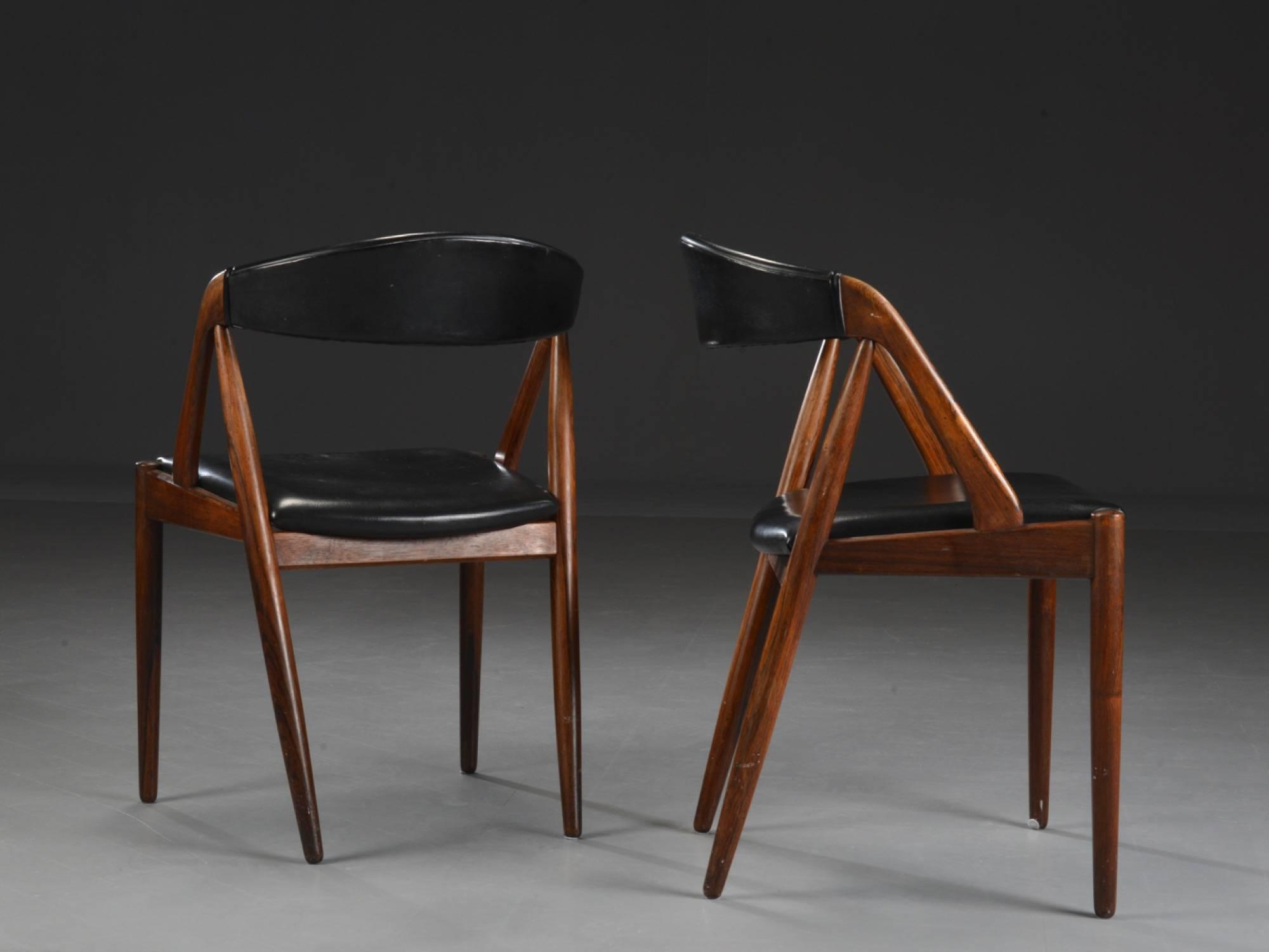 danish modern dining chair buy folding chairs incredible set of four rosewood by kai mid century kristiansen for