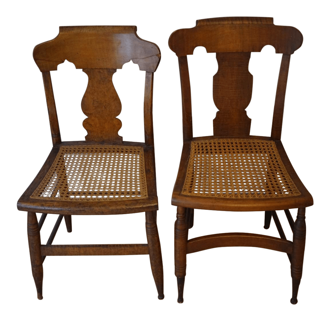 antique cane dining room chairs swivel chair replacement base vintage used country chairish seat a pair