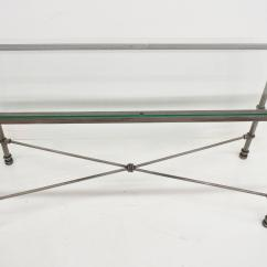 Pier 1 Sofa Quality Ashley Knox Durablend Medici Collection Pewter Iron Console Hall Table With Item Glass Top Details Construction