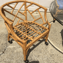 Bamboo Chairs For Sale Kampa Chair Accessories Chinoiserie Table Rolling Chairish Image 9