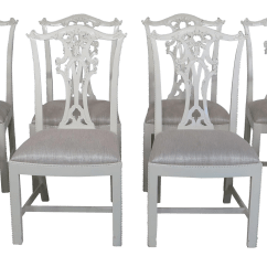 Hickory Chair Co Swivel Accent Chairs White Chippendale Dining Room Set Of 8 For Sale