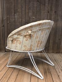 Mid Century Modern White Homecrest Metal Patio Chair ...