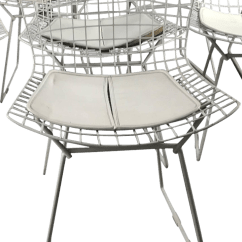 Bertoia Side Chair Revolving Models 1950s Vintage Harry For Knoll Early Modernist Wire Chairish