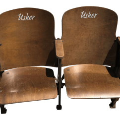 Chair Design Patent Bed Sleeper Ikea Vintage Art Deco Cast Iron And Wood Church Usher Chairs 96807