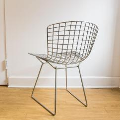 Bertoia Wire Chair Original Blue Wingback Slipcovers Harry Chairish For Sale Image 5 Of 6