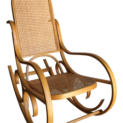 Bent Wood Rocking Chair Clamp On Umbrella Vintage Luigi Crassevig Bentwood In The Style Of Michael Thonet For Sale