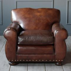 Art Deco Style Club Chairs Dallas Cowboys Folding 1950s Vintage Leather Chair Chairish This 1950 S Features Dark Brown Upholstery With Brass