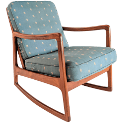 Danish Modern Rocking Chair Foldable Office Vintage Used Chairs Chairish 1960s Ole Wanscher For France And Son Teak