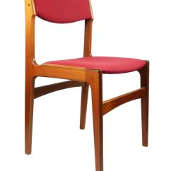 Danish Modern Dining Chairs Steel Chair Picture Erik Buch For Anderstrup Mobelfabrik A Stunning Pair Of Teak By