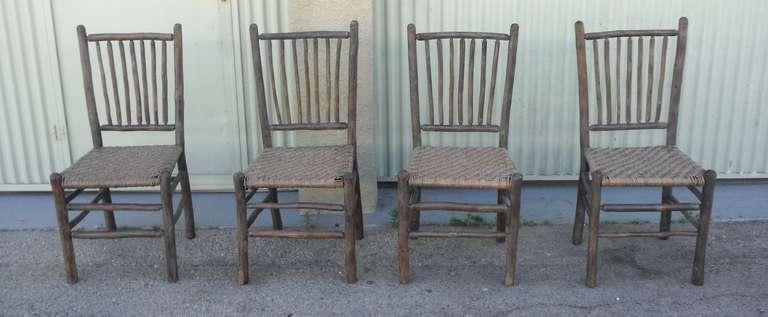 grey painted chairs potty chair for adults exquisite signed old hickory original amazing set of four matching rustic dinning the seats are