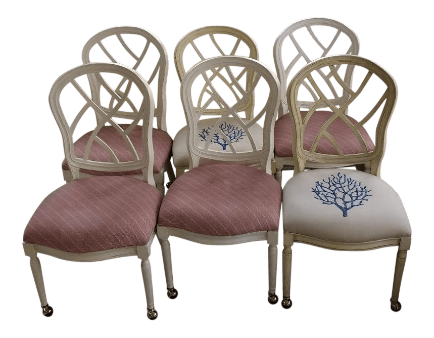big bamboo circle chair bedroom chaise lounge chairs vintage used dining for sale chairish late 20th century hollywood regency chinoiserie fretwork set of 6