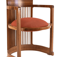 Frank Lloyd Wright Chairs Swivel Chair Base Replacement Cherry Wood Barrel Signed Chairish