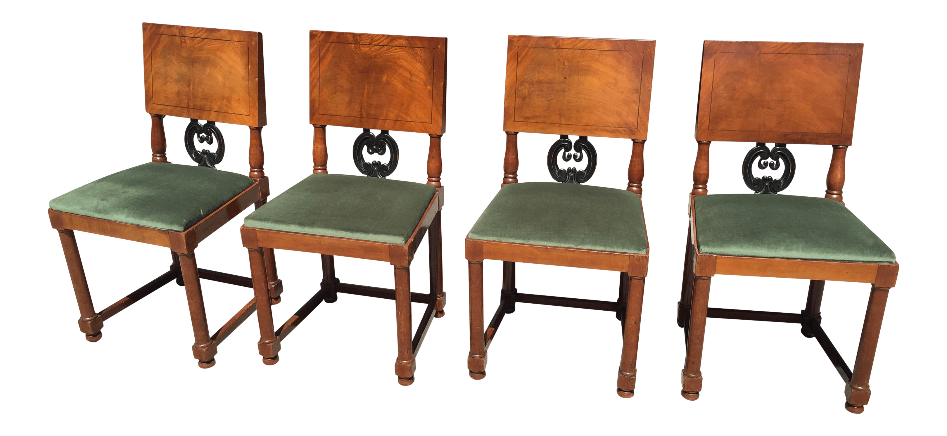 Art Deco Dining Chairs Four Art Deco Dining Chairs