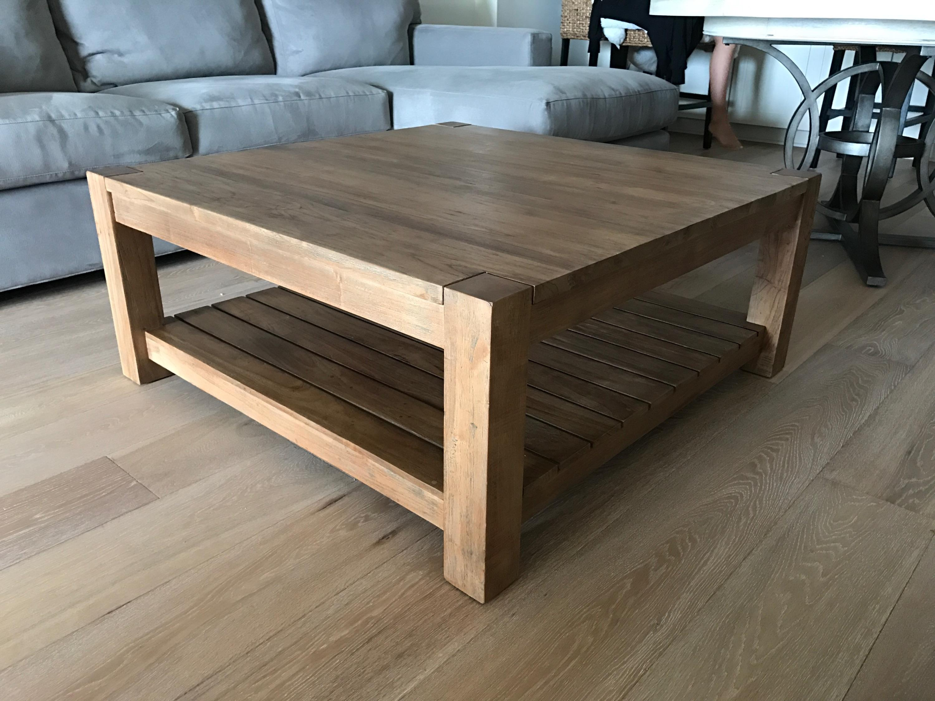 crate and barrel edgewood square coffee table