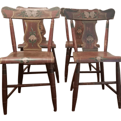 Farmhouse Chairs For Sale How To Make Bamboo Chair 19th Century Rustic Set Of 4 Chairish