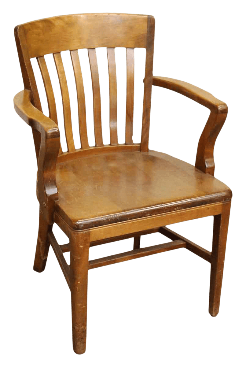 Wooden Bankers Chair Solid Maple Bankers Arm Desk Chair