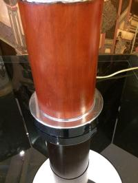 Mid-Century Modern Burl Wood Table Lamps - A Pair   Chairish