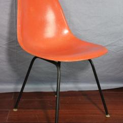 Orange Bucket Chair Wayfair Chaise Lounge Chairs 1958 Vintage Herman Miller Fiberglass Set Of 3 Contemporary For Sale Image