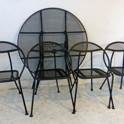 Black Metal Patio Chairs Christmas Chair Covers Target Vintage Mid Century Modern Salterini Rid Jid Indoor Outdoor