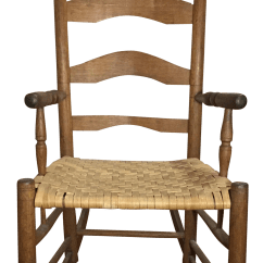 Rocky Oversized Folding Arm Chair Black Wire Vintage Used Antique Rocking Chairs For Sale Chairish Farmhouse With Rush Weave Seat
