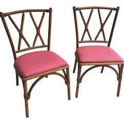 Bamboo Chairs Bedroom Chair Black Heywood Wakefield Mid Century A Pair Chairish For Sale