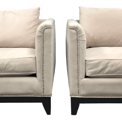 Z Gallerie Chairs Rolling Chair Parts Names Contemporary Pauline Cream Velvet Arm A Pair For Sale