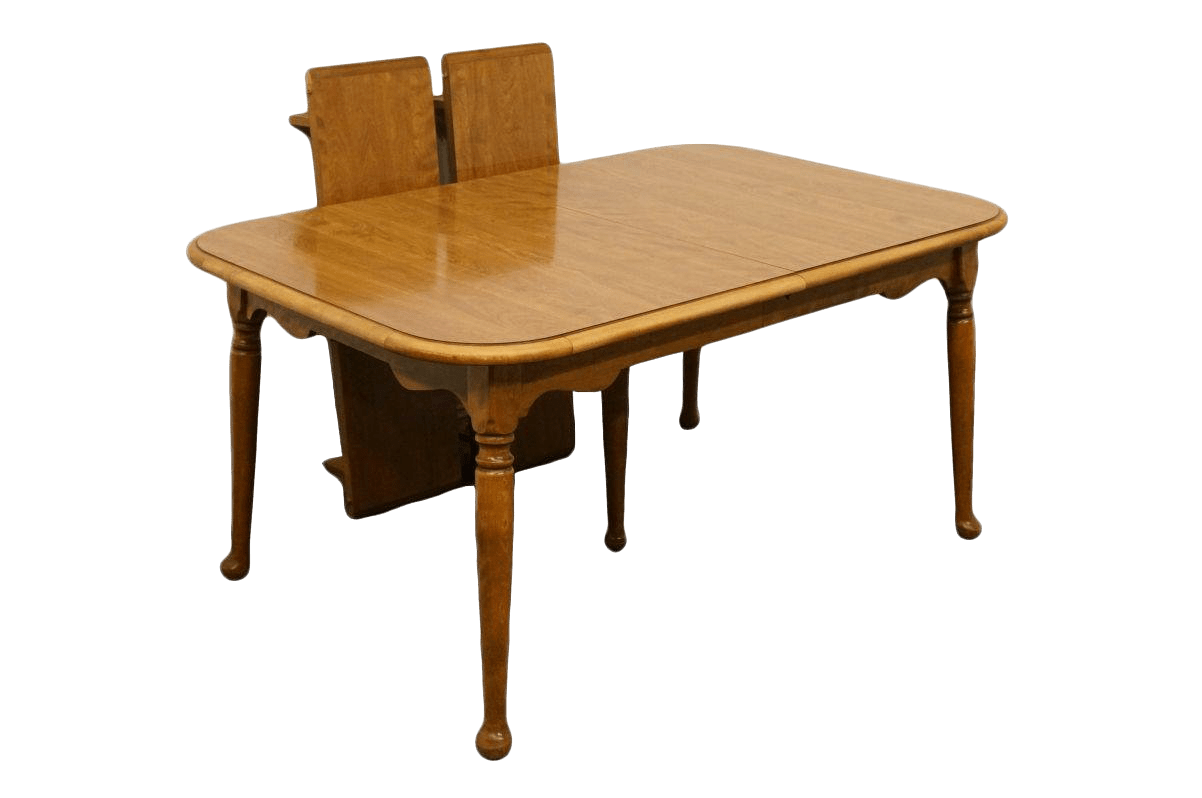 maple kitchen table cheap makeover 20th century traditional ethan allen heirloom nutmeg dining