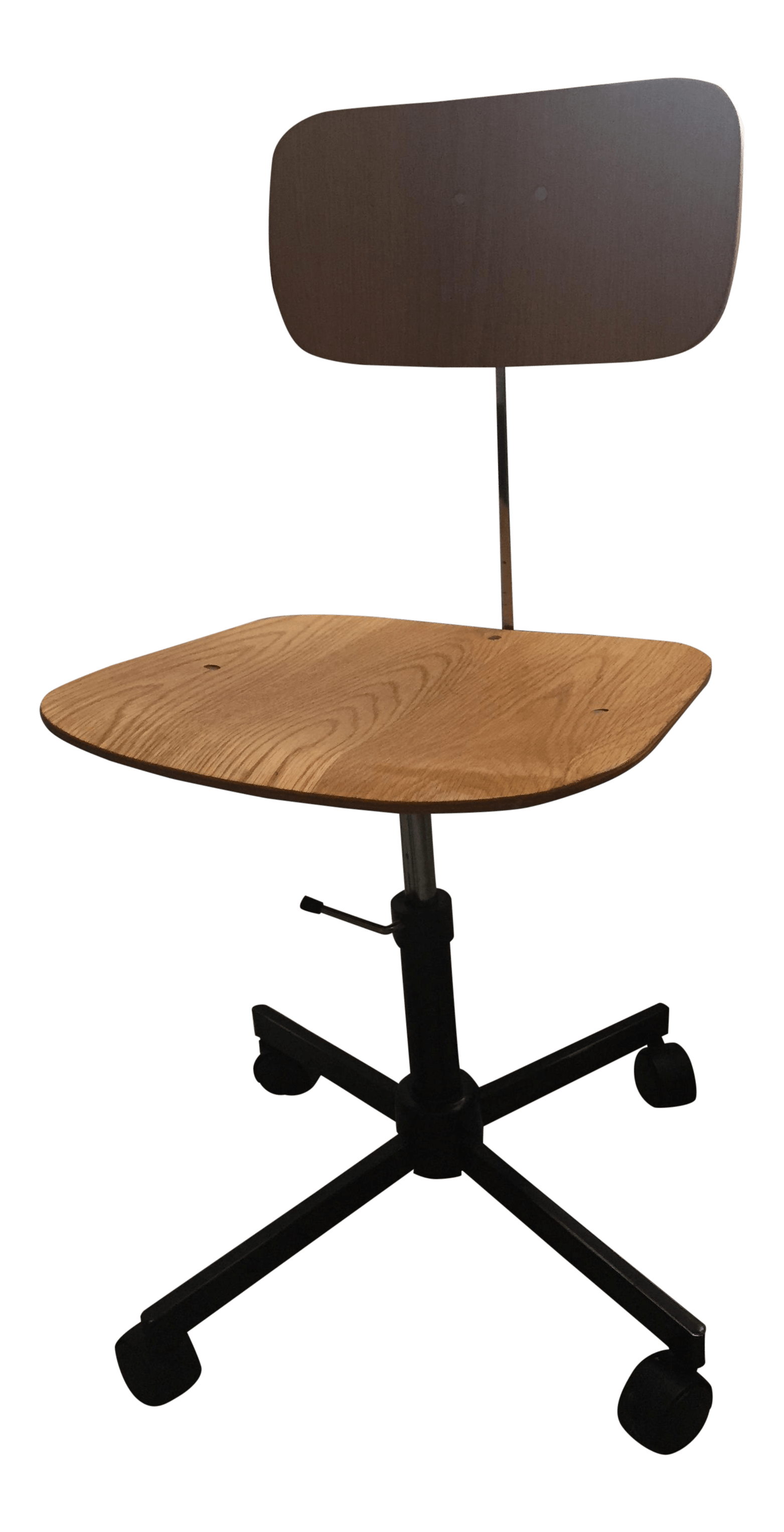 desk chair made portable camping chairs vintage swivel office by rabami stole chairish for sale