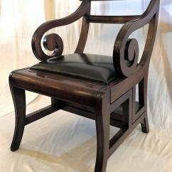 Library Chair Ladder Farmhouse Table And Chairs For Sale Excellent English Mahogany Metamorphic Converts To A Step