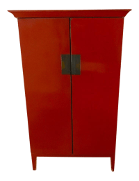 Red Storage Cabinet | Chairish