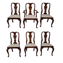 Queen Anne Side Chairs Cherry Lane Executive Leather Office Chair Henkel Harris Wood 6 Chairish