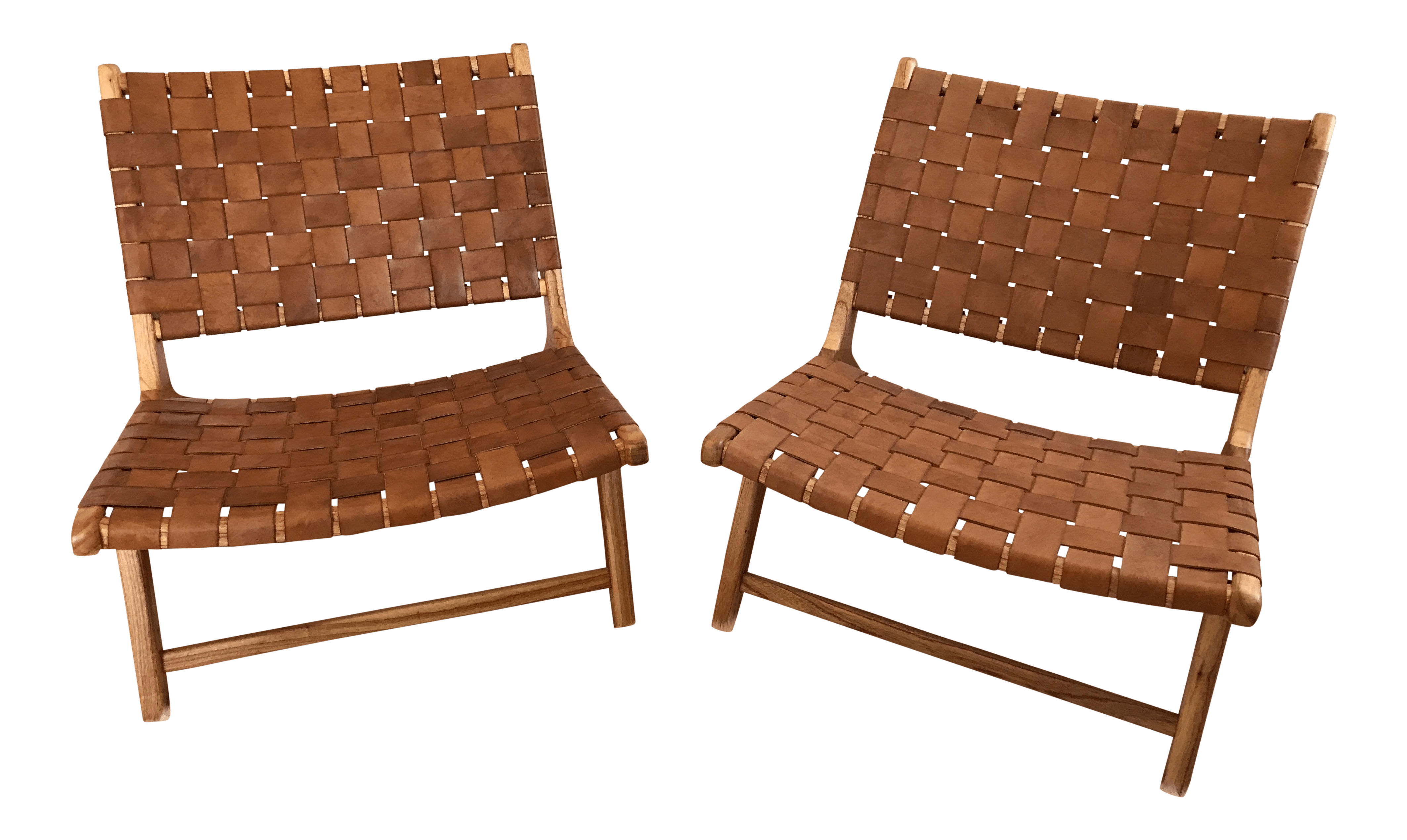 Leather Woven Chair Woven Leather Lounge Chair Chairish