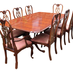 Thomasville Sofa Table With Stools Standard Sizes Australia Dining Set And 8 Chairs Chairish