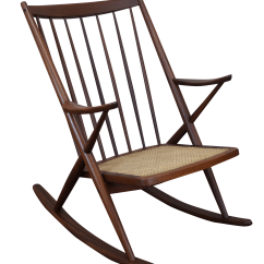 Danish Modern Rocking Chair Armless Upholstered Slipcover Frank Reenskaug Bramin Chairish