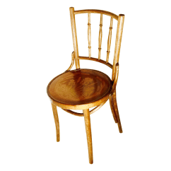 Vintage Bentwood Chairs Small Wingback Chair Antique Thonet Cafe Chairish