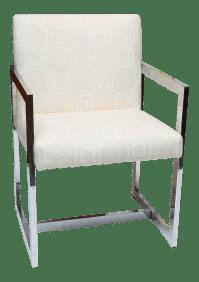 Mid-Century Modern Chrome Armchair   Chairish