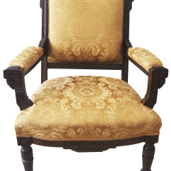 Victorian Accent Chair Kids Plush Chairs Vintage American Carved Wood Arm Chairish