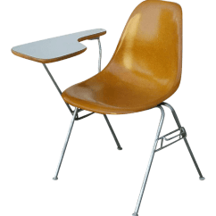 Chair Connected To Desk Acapulco Leather Herman Miller Eames W Attached Chairish