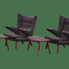 Hans Wegner Chairs Design Within Reach Accent Chair Modern J Papa Bear Lounge A Pair Chairish