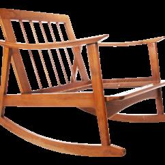 Danish Modern Rocking Chair Pads For Nursery Chairish