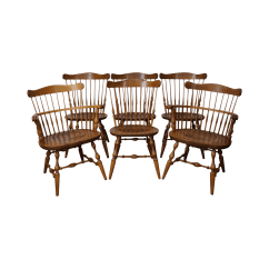 Unfinished Windsor Chairs Wood Folding Costco Ethan Allen Nutmeg Solid Maple Style Dining