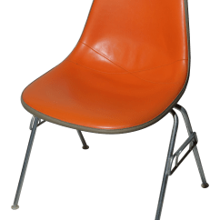 Herman Miller Chairs Vintage Tub Chair Covers Ikea Eames Dss Orange Chairish