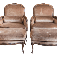 French Bergere Chair And Ottoman Clear Office Set A Pair Chairish