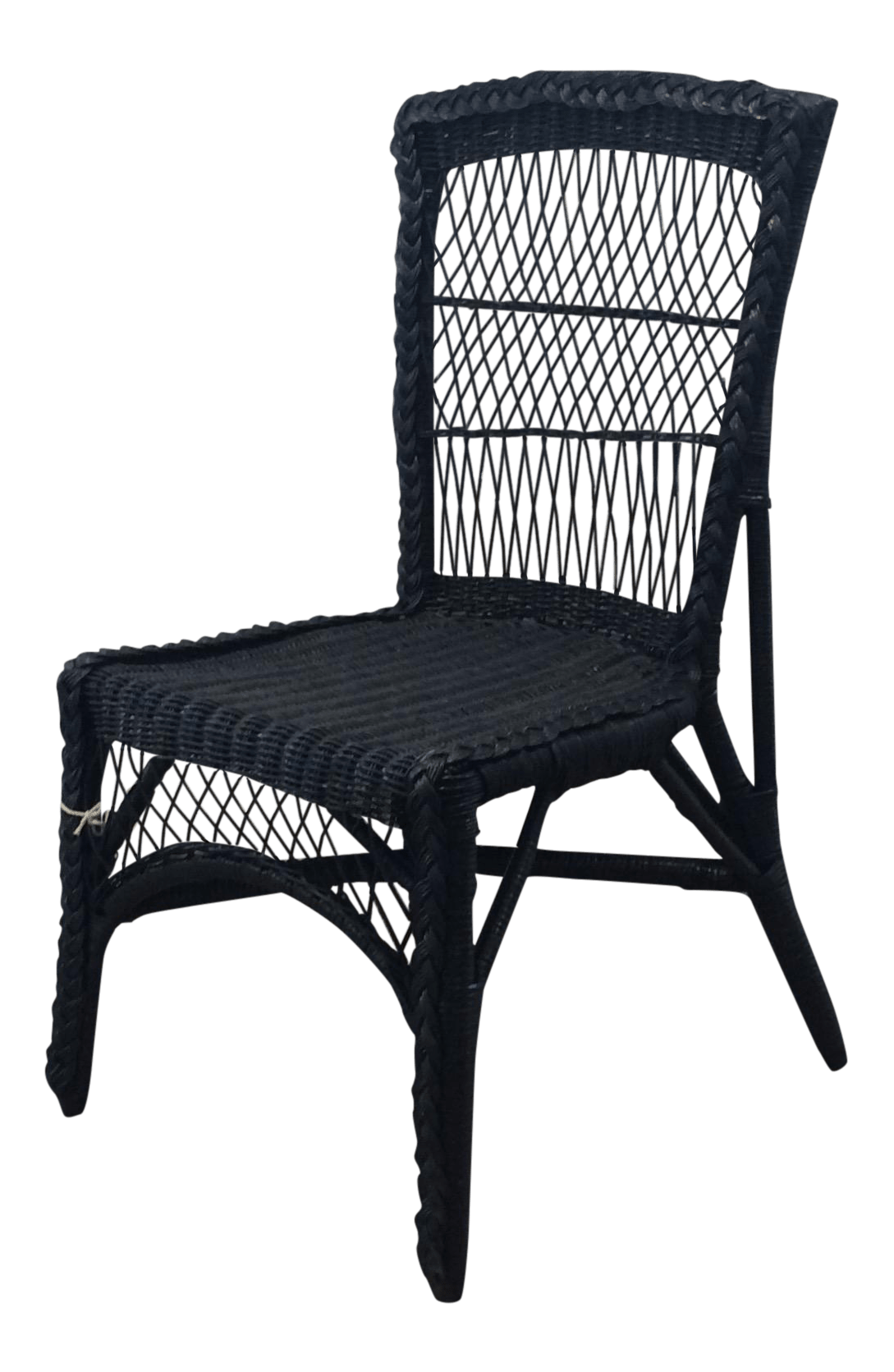 Vintage Accent Chair Vintage Blue Wicker Accent Chair Chairish