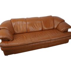 Caramel Colored Leather Sofas 3 Seater Sofa Settee Natuzzi Vintage Color Chairish