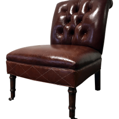 Emil Leather Slipper Chair Clearance Camping Chairs Hancock And Moore Tufted Chairish