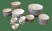 Noritake 'Silver Key' Porcelain Dinnerware - Set of 71 ...